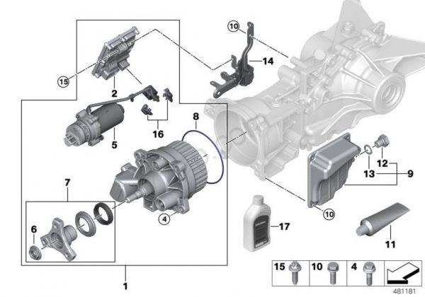 Bmw  U0026 Mini Haldex Repair Kit  Hydraulic Pump Part Number 3310 8663457
